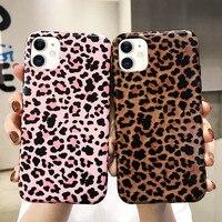 Стильный Милый леопардовый чехол для телефона iPhone 11 Pro Max, мягкий чехол для iPhone SE 2020 Xr X Xs 8 7 Plus 6 6s 12 Mini, противоударный