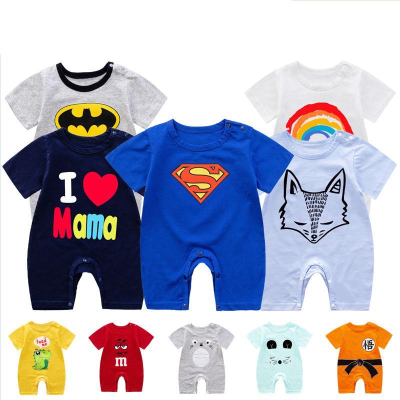 Summer Clothing Newborn Baby Rompers Short Sleeve Toddler Infant Jumpsuits Cartoon Superhero Baby Boy Girl Costumes