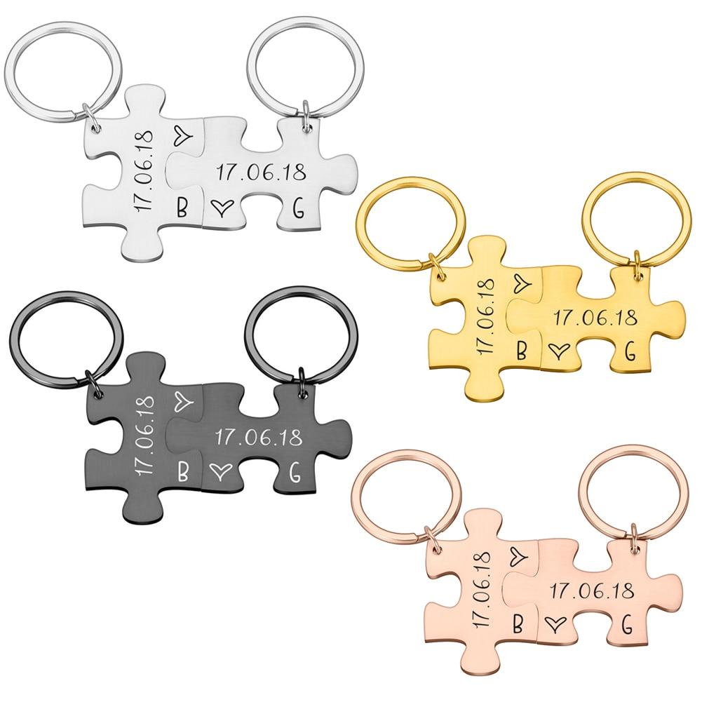 2 Pcs Boyfriend Gift Key chain for Women Men Couple Keychain Gifts for Husband Wife Boyfriend Girlfriend Valentines Day Gift