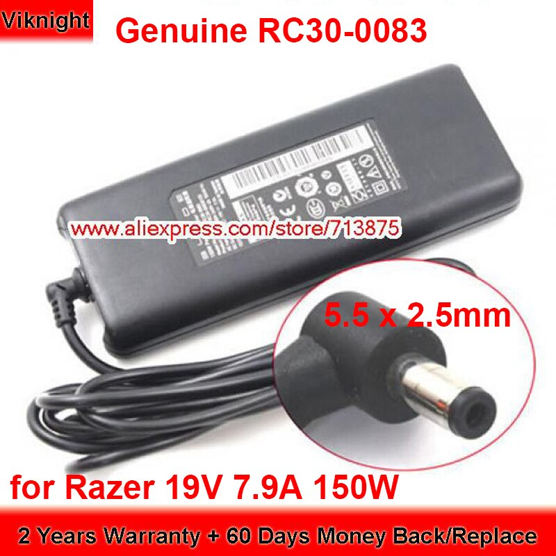 حقيقية 19V 7.9A 150W RC30-0083 Ac محول لجيجابايت P34 2013 شفرة 14 RC30-0830 RC30-0830100 RZ09-01161 RZ09-0102 RZ09-0130