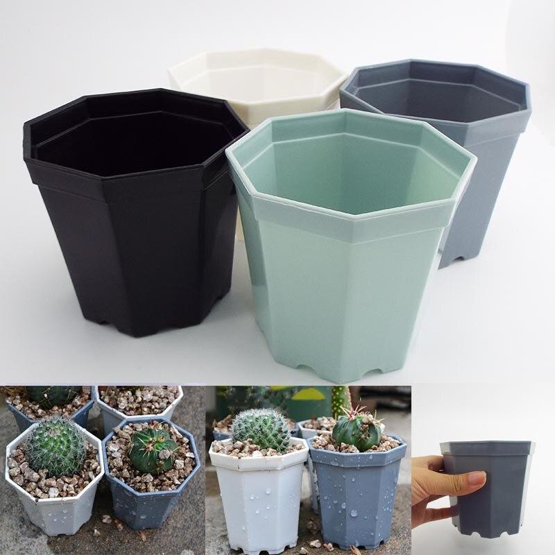 10pcs Plastic Square plant Flower Pot Home Garden planter tools Plant Pots Gardening nursery Pots for herb Succulents