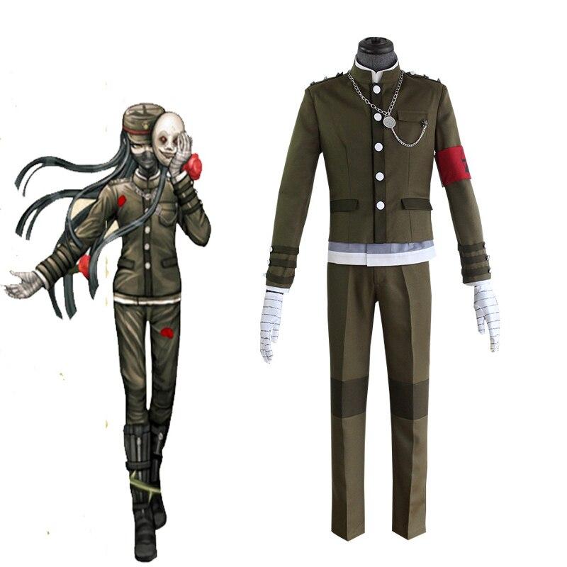 Anime danganronpa v3 korekiyo shinguji conjunto completo cosplay traje halloween carnaval roupa escola uniforme peruca tudo terno