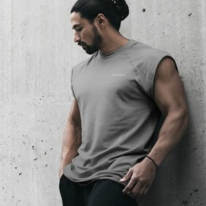Mens Sleeveless Vest Wild style Summer Cotton Male Tank Tops Gyms Clothing Undershirt Fitness Tanktops