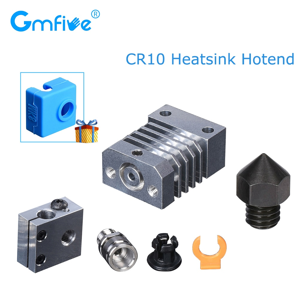 GmFive CR10 Hotend All Metal For CR-10 Ender3 Printers MK8 Nozzle Micro Swiss CR10 Hotend Extruder Titanium 3D Printer Parts
