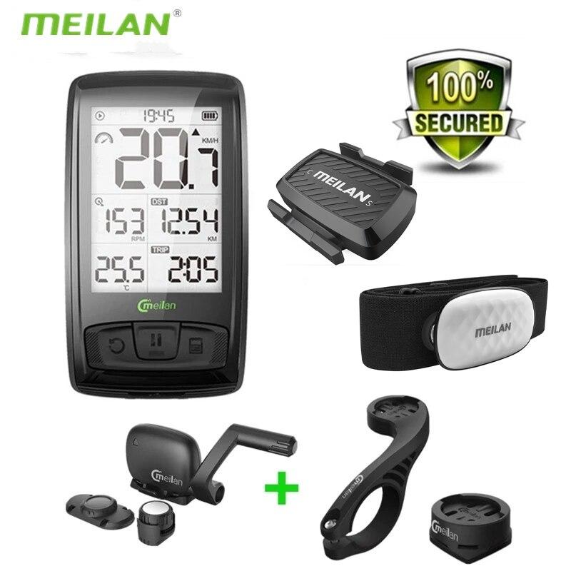 MEILAN M4 Bike Computer Wireless Bluetooth 4.0 With Mount Holder Cycling Speedometer Speed/Cadence Sensor Waterproof Odometer