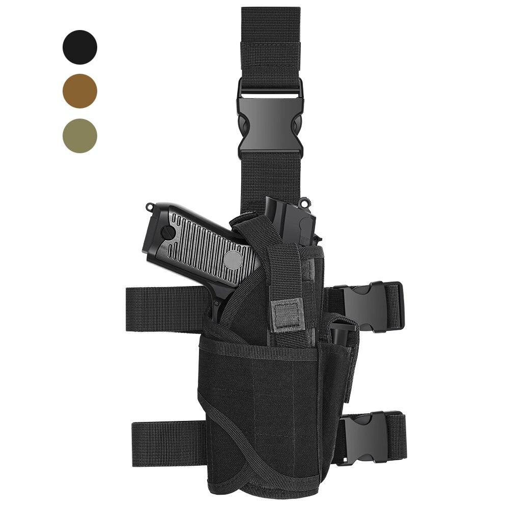 Tático universal pistola coldre coxa tornado pistola coldre para glock 1911 45 92 96 sig p228 esquerda/direita gota perna saco