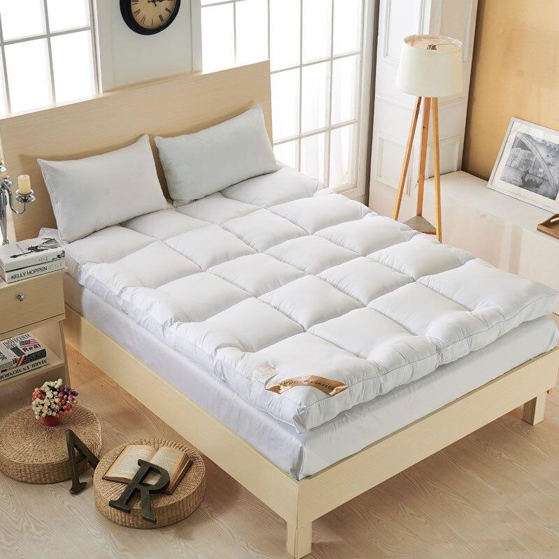 VESCOVO colchón de fibra de plumón de ganso grueso colchón de cama individual doble tamaño de Reina
