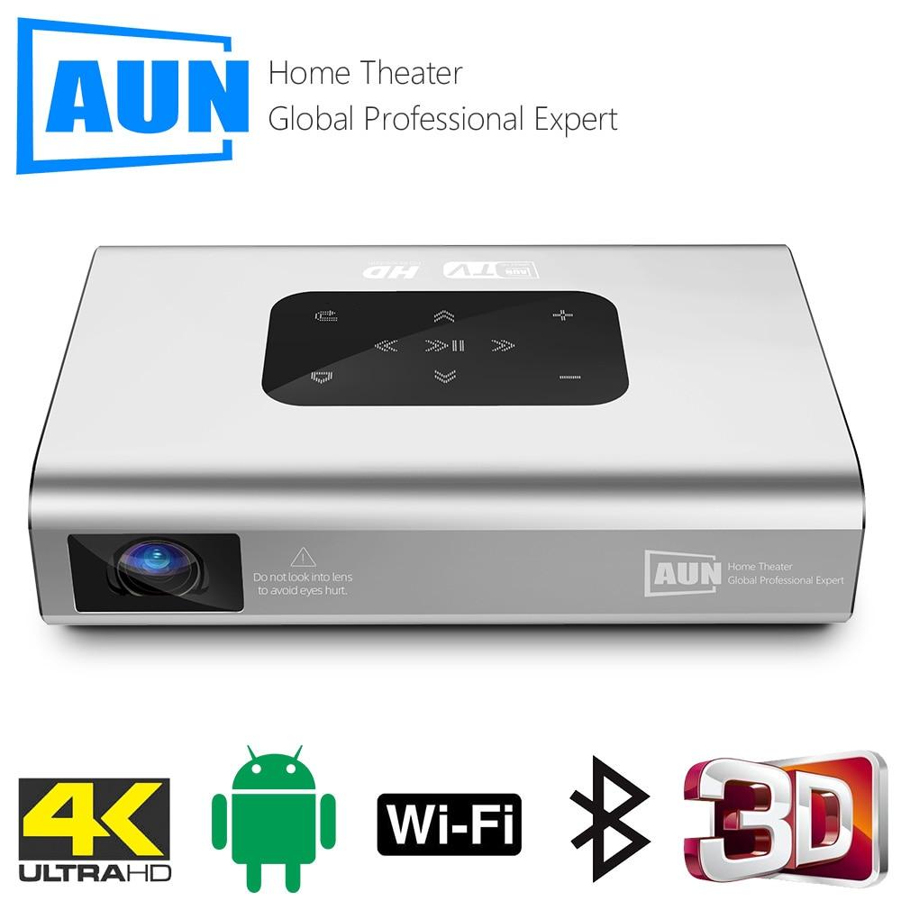 Aun projetor x5   4k android wifi 3d 10500mah bateria 300 polegada 1080p dlp mini portátil vedio projetor smart tv laser beamer hdmi