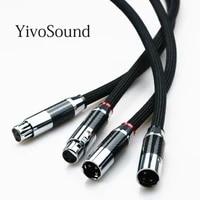 yivosound hifi xlr rca jack audio copper ofc pcocc balanced xlr cables audio cable male to female wire