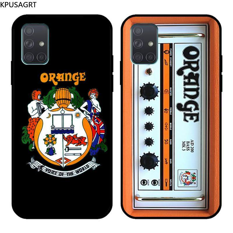 KPUSAGRT Orange Gitarre Amp Weiche Telefon Fall Capa Für Samsung Galaxy A21S A01 A11 A31 A81 A10 A20E A30 A40 a50 A70 A80 A71 A51