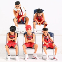 Slam Dunk Hanamichi Sakuragi Rukawa Kaede Akagi Takenori Miyagi Ryota Mitsui Hisashi PVC figurines jouets 5 pièces/ensemble