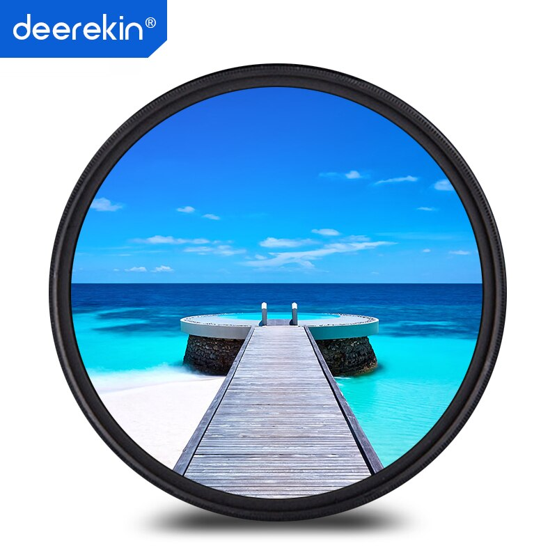 Deerekin 49mm FINO Filtro UV Lens Protector para envio Canon 50mm F1.8 STM, Sony FE 55/1. 8, E50/1.8 55-210mm, Câmera Digital Nikon