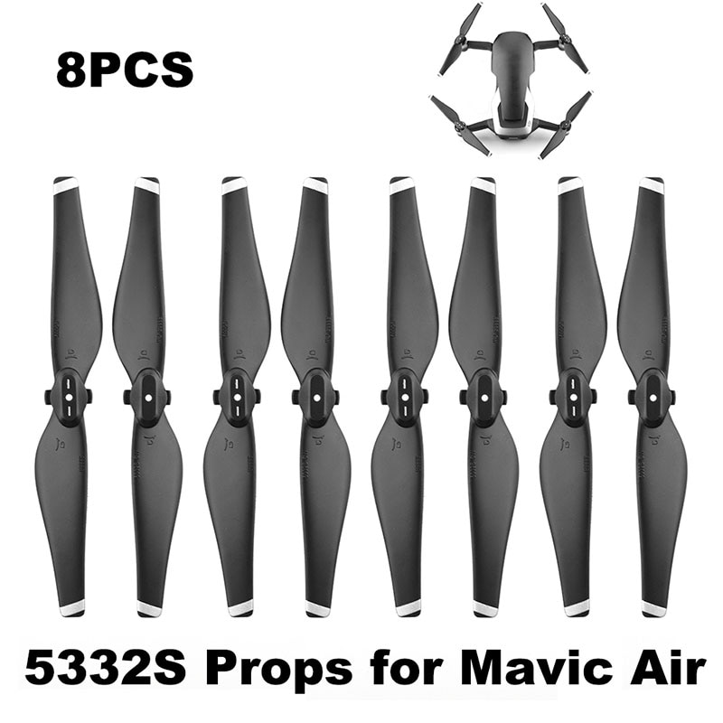 4 Pairs 5332S Propeller for DJI Mavic Air Drone Quick Release Blade 5332 Props Durable Spare Parts Replacement Accessories Wing