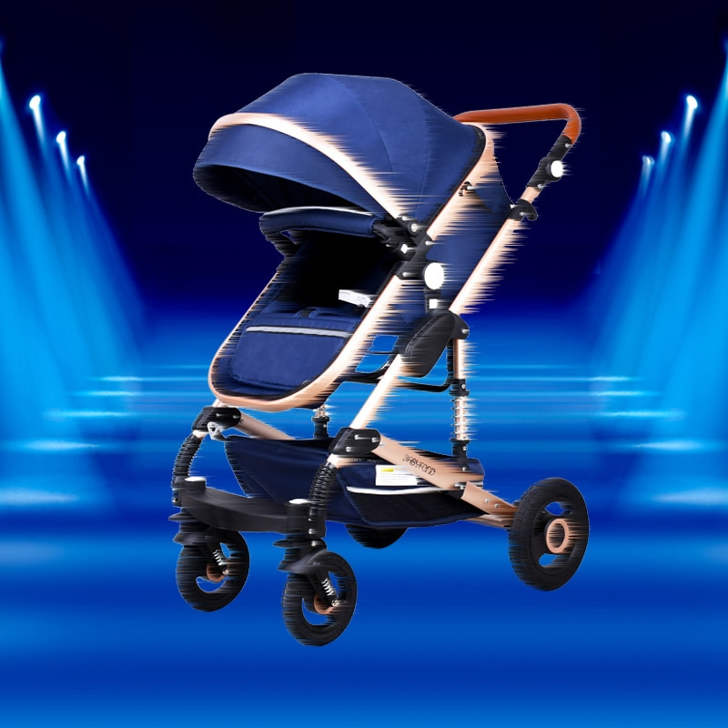 EU Certification Luxury 3 in 1 Baby Stroller Aluminum Frame Sit And Lay High Quality Baby Stroller enlarge