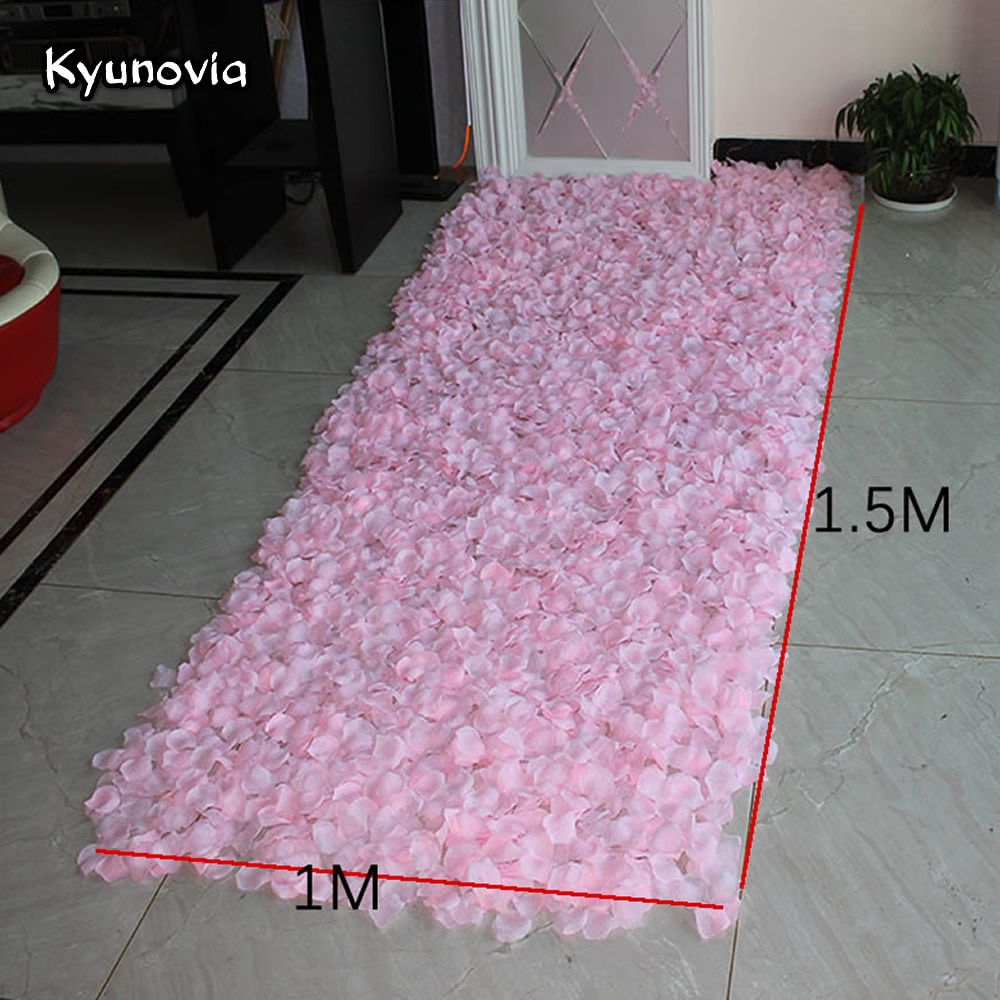 Non-woven Fabrics 3500pcs/Lot 250G 5*5CM Big Rose Petals Wedding Petale De Rose Mariage Romantic Artificial Rose Flower Petals