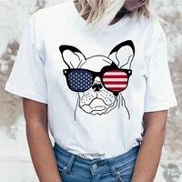 french bulldog cartoon top no time for you women t shirt funny clothes harajuku kawaii tee shirts