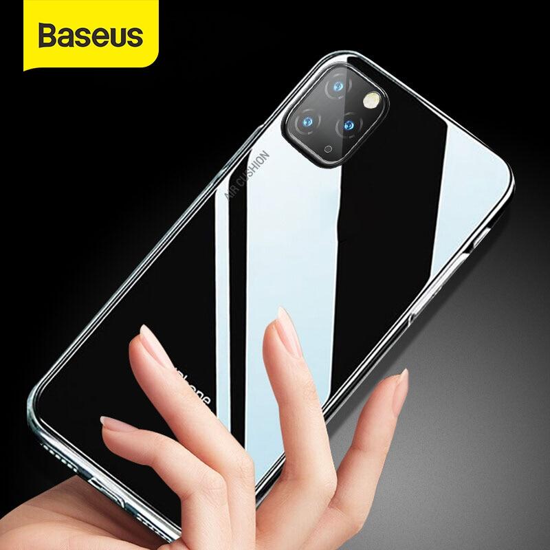 Baseus anti-knock caso para iphone 11 5.8 6.1 6.5 polegada 2019 claro tpu airbag capa para iphone 11 pro 11 pro max telefone capa coque