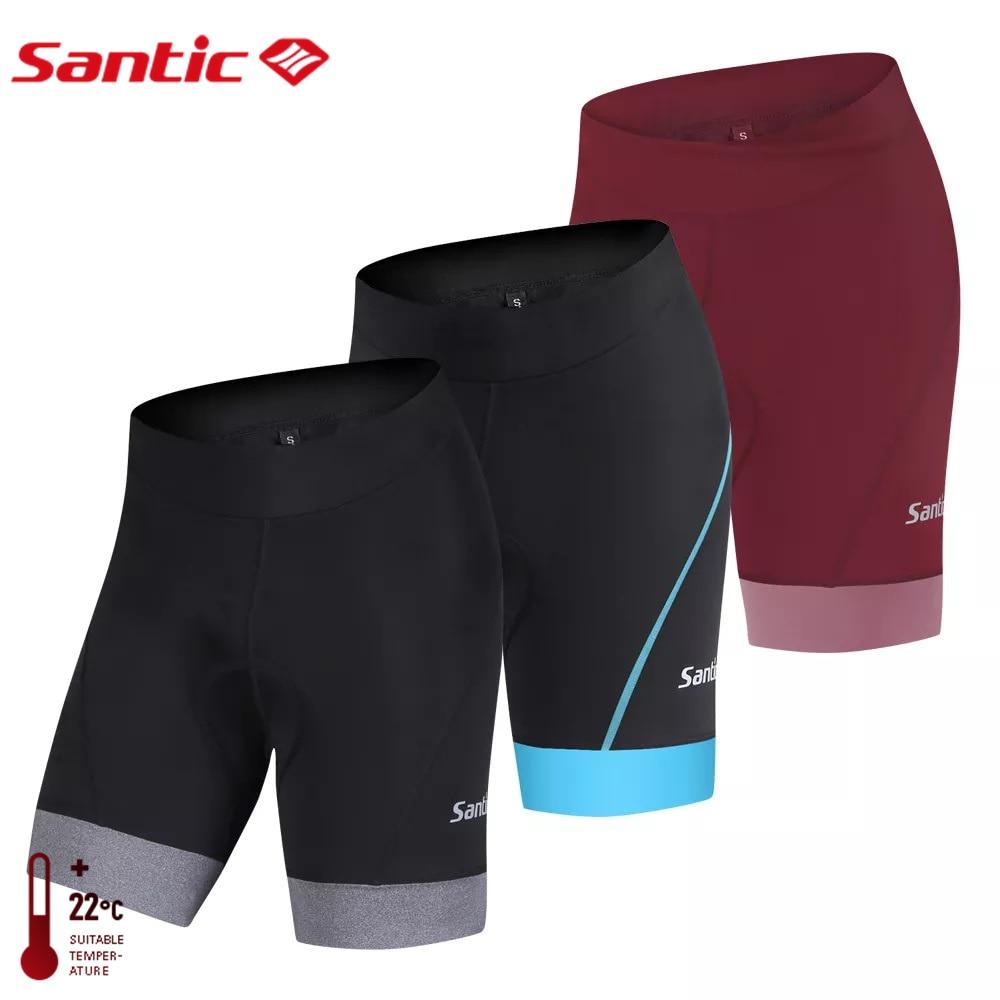 Santic велосипедки женские женские шорты с подкладкой для велоспорта Pro Fit Coolmax 4D Pad ударопрочный анти-пиллинг дорога MTB езда короткие американс...