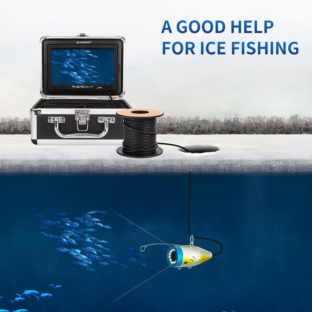 SYANSPAN Fish Finder Underwater Fishing Camera Double Lamp 24 LEDs 7