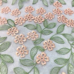 Lace161 Florals Embroidered Mesh Lace Fabric For Women's Dresses/Evening Dresses/Wedding Dresses/Curtain/Home Decoration Fabrics