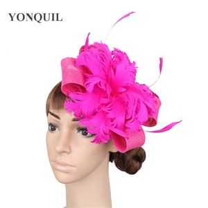 Elegant Ladies Fashion Headwear Fancy Feathers Hair Accessories Cocktail Race Fascinator Hat Hair Pin Bride New Headdress