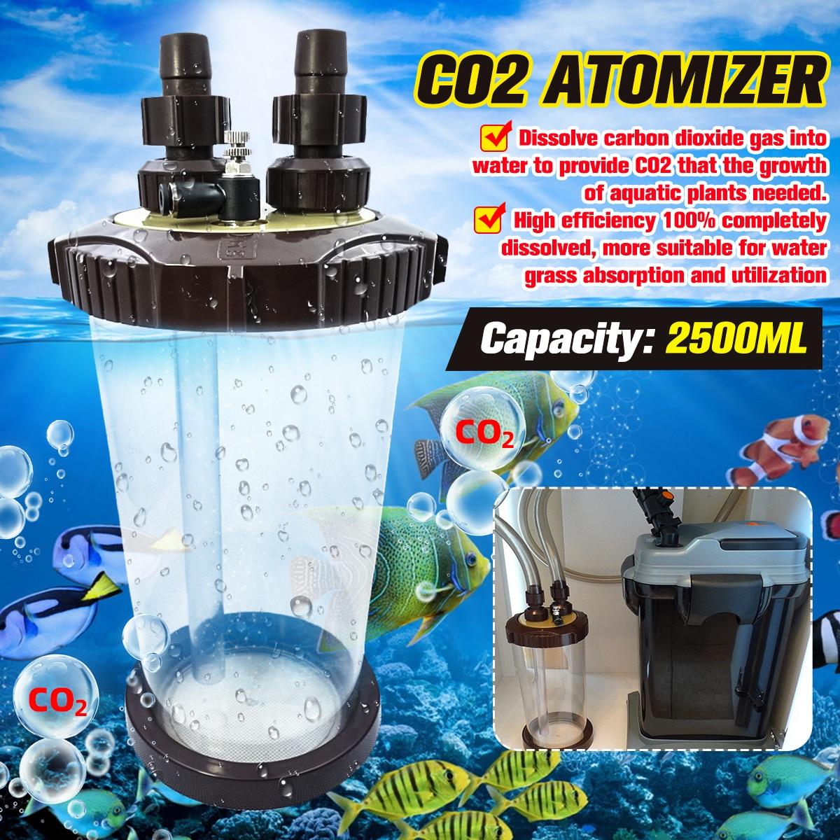 Clear CO2 Atomizer External Turbo Super Diffuser Atomizer Fish Tank Aquarium WaterPlant Fish Tank Landscape Aquatic 2500ML