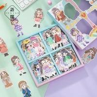 80pcspack decorative stickers scrapbooking diy stick label diary stationery album journal cartoon sticker