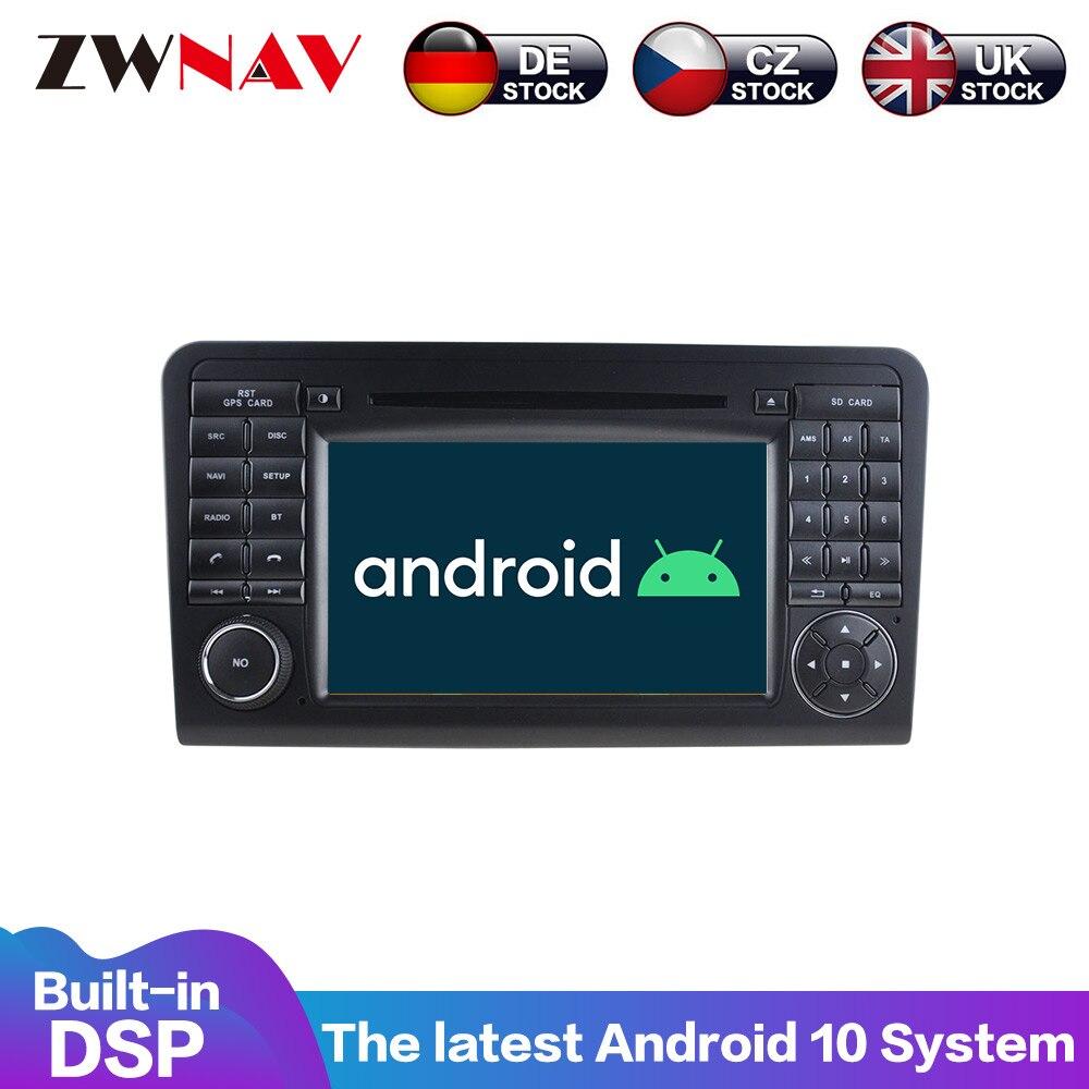 Android10With DSP Carplay pantalla para Mercedes Benz clase GL clase ML W164 ML350 ML500 X164 GL320 2005-2012 GPS navegador estéreo radi0