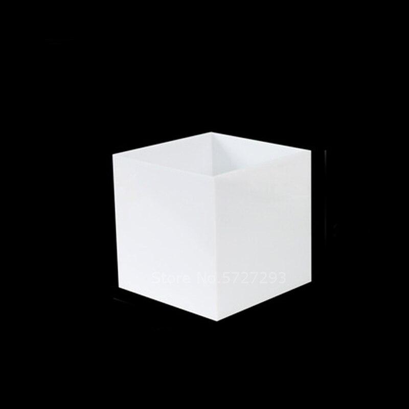 Caja de almacenamiento cuadrada de acrílico blanco PMMA, contenedor para cuentas de joyas, herramientas de pesca, accesorios, caja, artículos pequeños, artículos diversos, caja organizadora