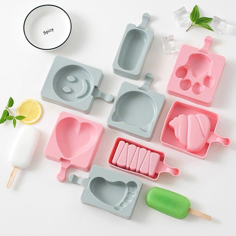 Еда Класс силиконовая форма для льда «формы для крема сока фруктового льда машина для изготовления кубиков льда морозильная камера с рисун...