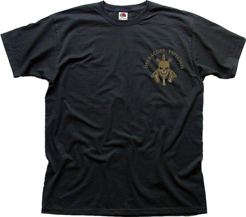 Bope Tropa De Elite batallon negro algodón camiseta Fn01475 Unisex camisetas
