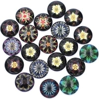 10pcs 182025mm flower glass cameos cabochons round domes flatback diy scrapbooking handbag handmade crafts decor accessories
