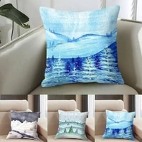 new style scenery cushion cover cute pillow cover cartoon polyester car pillow throw office pillows for bedroom cases decor c3e7