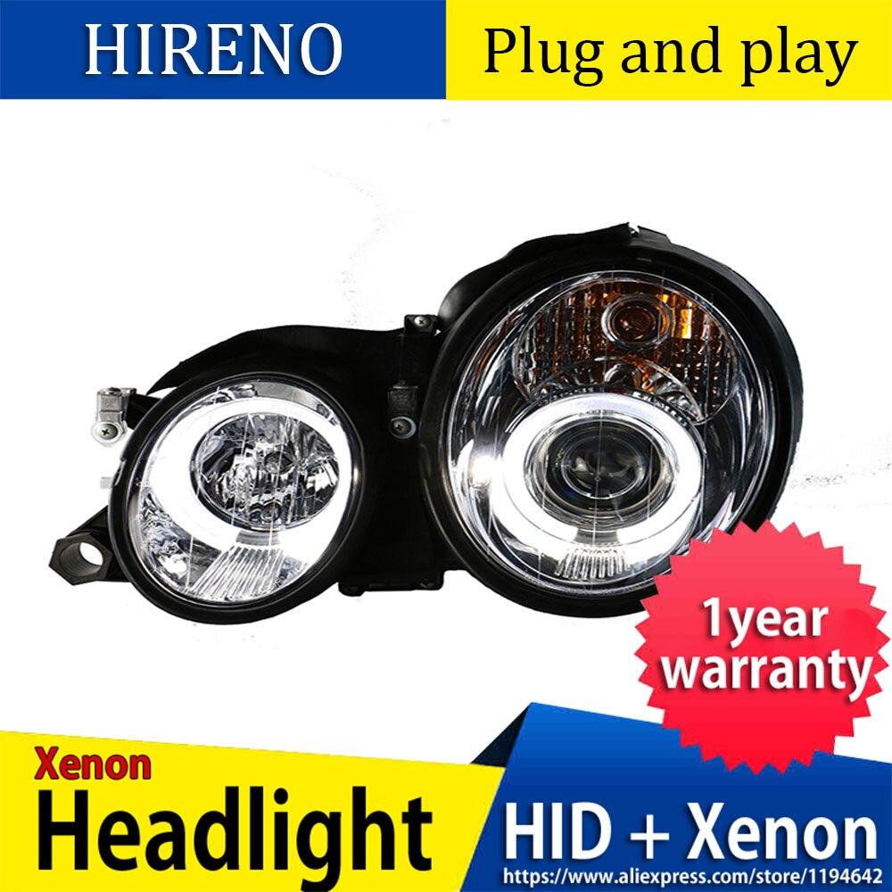 Auto Styling Led Head Lamp Voor Mercedes-Benz Glk W208 C63 C200 C230 C280 C300 1997-2003 Jaar led Head Light Met Angel Eyes