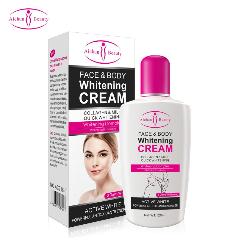 120ml Body Cream for Dark Skin Bleaching Brightening Lotion Whitening Private Armpit 2020 NEW