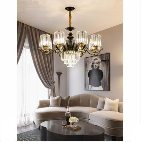 European style chandelier 2019 new lamps living room lamp simple modern crystal bedroom dining room ceiling lamp