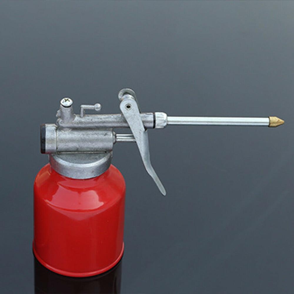 Lubrificação de Alta pressão da máquina máquina manual pode garrafa de óleo pote de óleo transparente arma garrafa queda longo boca pote de óleo lubrificador 250ml