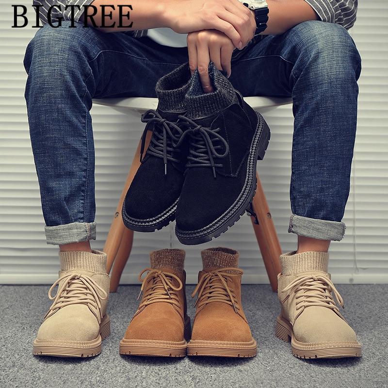 Los Zapatos de los hombres Botas de tobillo de los hombres de...