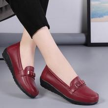 รองเท้าผ้าใบรองเท้าสตรีรองเท้าหนังแท้หนังลื่นแบบสบายๆรองเท้าผู้หญิง Loafers 2021รองเท้าผู้หญิง...