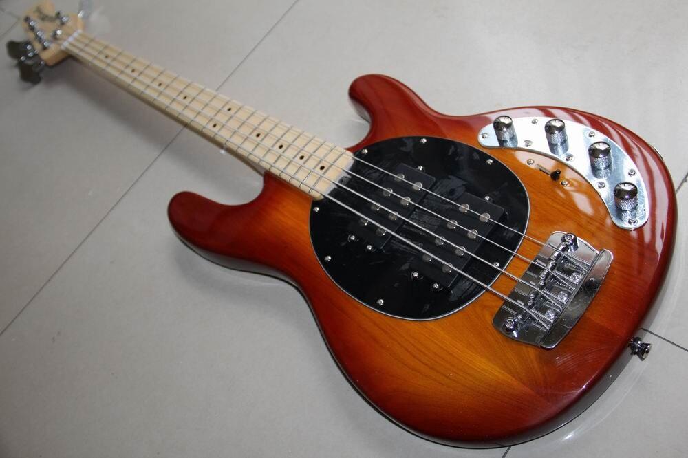 New Arrival 4 String Electric Bass Ernie Ball Music Man StingRay5 Model In Sunburst 130301