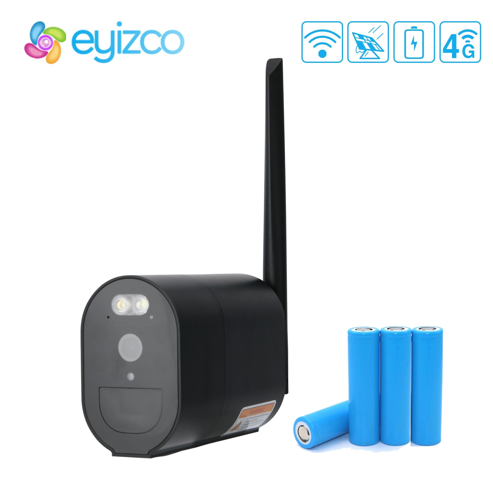 أسود 4G سيم بطاقة IP كاميرا واي فاي في الهواء الطلق Powerd بواسطة 4 واط لوحة طاقة شمسية PIR الحركة بطارية قابلة للشحن كاميرا اللون للرؤية الليلية Ubox