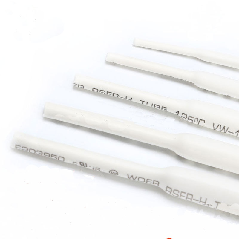 Envío gratis 10M Rohs blanco 21 cable manga 2/2. tubo retráctil de calor blanco de 5/3/3,5/4/5/6 MM