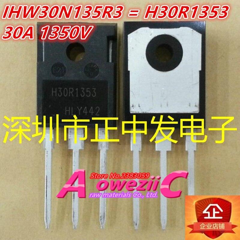 100% novo importado originais IHW30N60T H30T60 IHW30N90T H30T90 IHW30N135R3 H30R1353 IHW30N160R5 H30SR5 TO-247 de potência IGBT transist