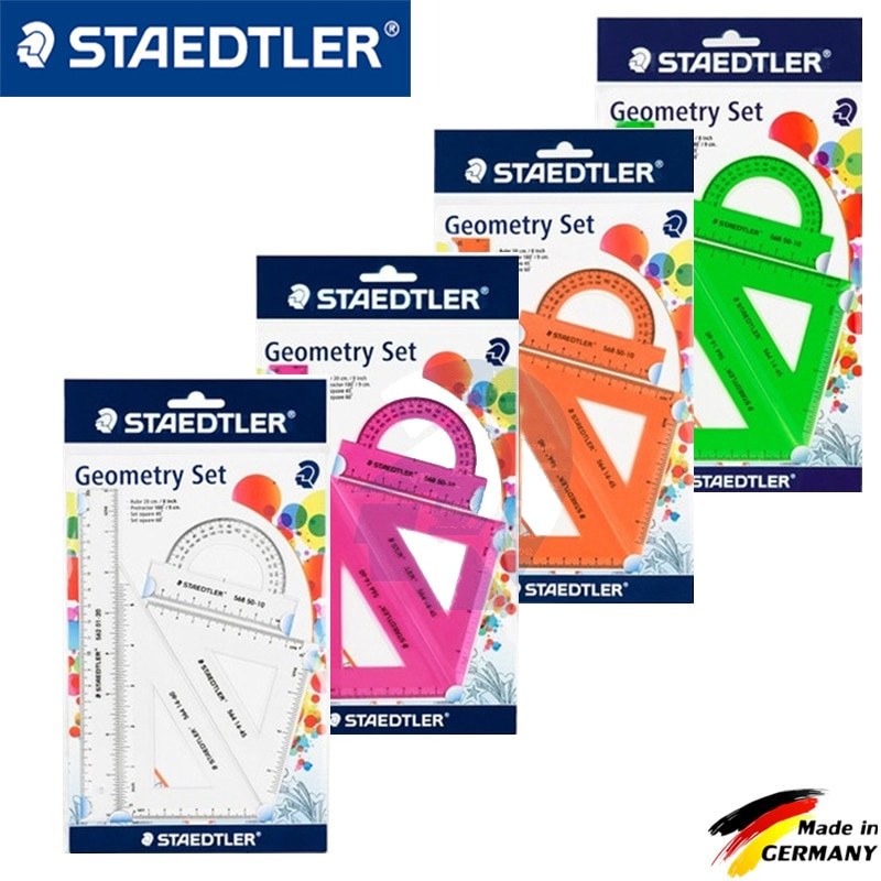 4 pcs/set New Straight Ruler Protractor Students Math Geometry Soft Bendable Plastic Triangle Ruler Set Office School Supplies недорого