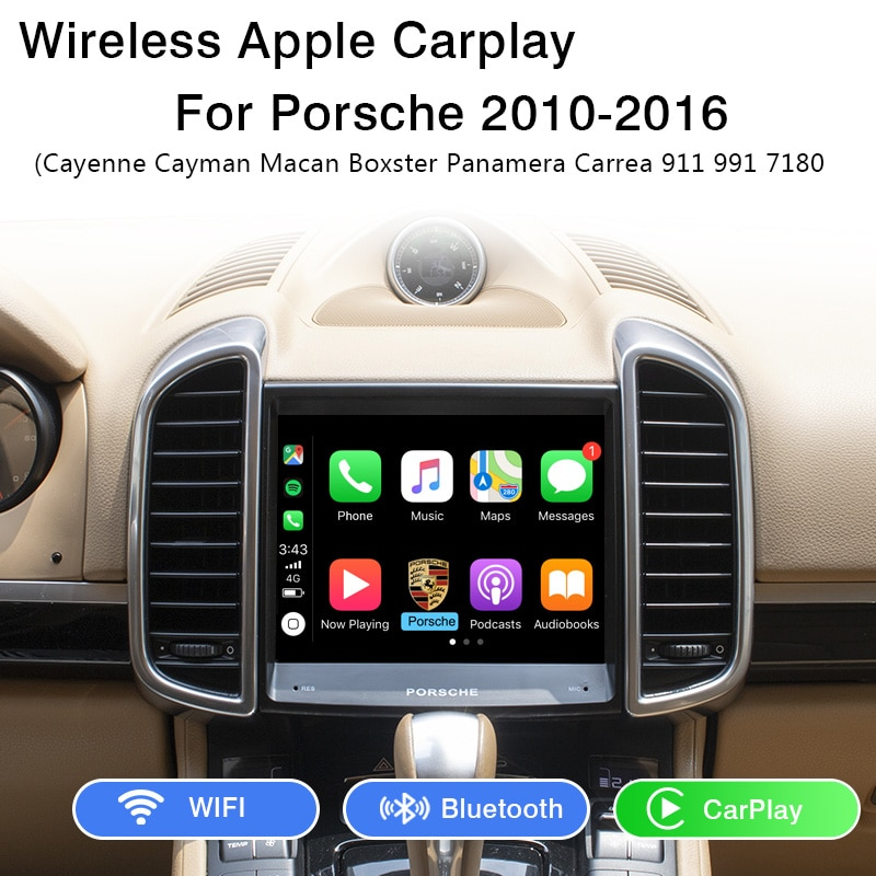 Yeesite inalámbrico Apple CarPlay OEM Retrofit para Porsche PCM 3,1 Androia Auto Macan Caimán Panamera Boxster 911Cayenne coche jugar