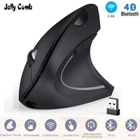 jelly comb 2 4gbluetooth ergonomic mouse rechargeable wireless gaming mouse with 6 buttons for 3 devices