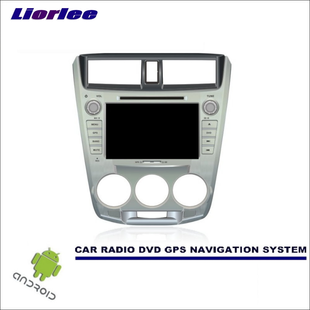 Liorlee Car Android Navigation System For Honda City 2008-2013 Manual Air Radio Stereo CD DVD Player GPS Navi Screen Multimedia
