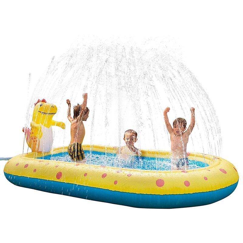 бассейн детский бассейны для дачи надувной бассейн Детский съемный коврик для бассейна с разбрызгивателем дракона, надувной прямоугольный...