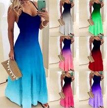 2020 femmes décontracté sangle ample Robe couleurs été Sexy Boho Bow Camis Befree Maxi Robe grandes tailles grandes robes Robe Femme