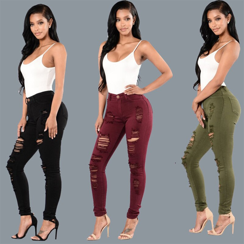 2021 fashion wom  джинсы woman brown pants mom  high waist women ripped boyfriend jeans ladies Korean style distressed  trousers